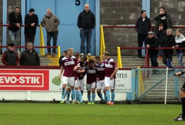 The Terras celebrate Sheppard's equaliser at the Bob Lucas Stadium in front of some of the Magpies visiting fans. https://idrismartin.wordpress.com/