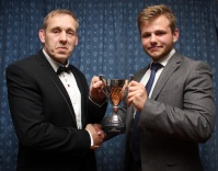 Club head coach Paul (Pablo) Harding (left) presents the Emerging Player of the Year Cup to Tom Drummond. https://idrismartin.wordpress.com/