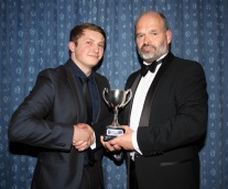 The Third xv Player of the Year Cup was presented by captain David Stoce (right) to Eliott Turley. https://idrismartin.wordpress.com/