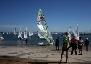 Weymouth & Portland this morning. Future Olympians ? The National Cadet Sailing Championships take place at the Weymouth & Portland Sailing Academy in Portland Harbour.