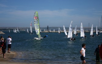 Weymouth & Portland this morning.. Future Olympians ? The National Cadet Sailing Championships take place at the Weymouth & Portland Sailing Academy in Portland Harbour. https://idrismartin.wordpress.com/