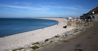 Weymouth & Portland this morning. What better place to take refreshment than Quiddles Cafe overlooking Chesil Beach on Portland.
