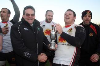 Result Swindon College Old Boys 20 v Weymouth & Portland 12. Swindon Black Red. Weymouth Blue. D&W President John Constable presents Gareth Davis with the winners trophy. https://idrismartin.wordpress.com/