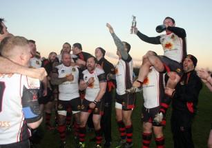 Result Swindon College Old Boys 20 v Weymouth & Portland 12. Swindon Black Red. Weymouth Blue. The winners celebrate their victory. https://idrismartin.wordpress.com/