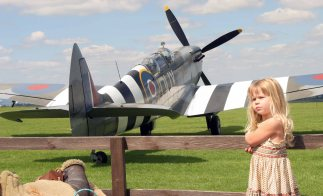 Caroline Grace's two seater Spitfire T1X at Compton Abbas.