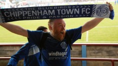 The Nordic Connection. Bjorn ? from the leader of the Bluebirds Norwegian Fan Club who attend most of Chippenham's matches home and away. https://idrismartin.wordpress.com/