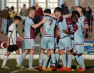 Ben Thomson 10 is congratulated after scoring the Terras second goal. https://idrismartin.wordpress.com/
